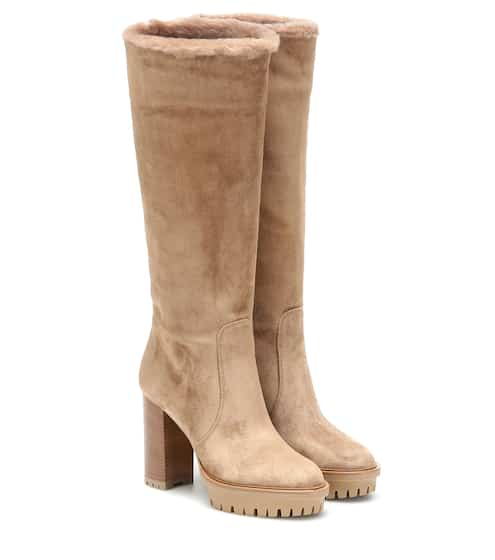 Olen suede knee-high boots by Gianvito Rossi, available on mytheresa.com for $1995 Olivia Culpo Shoes SIMILAR PRODUCT