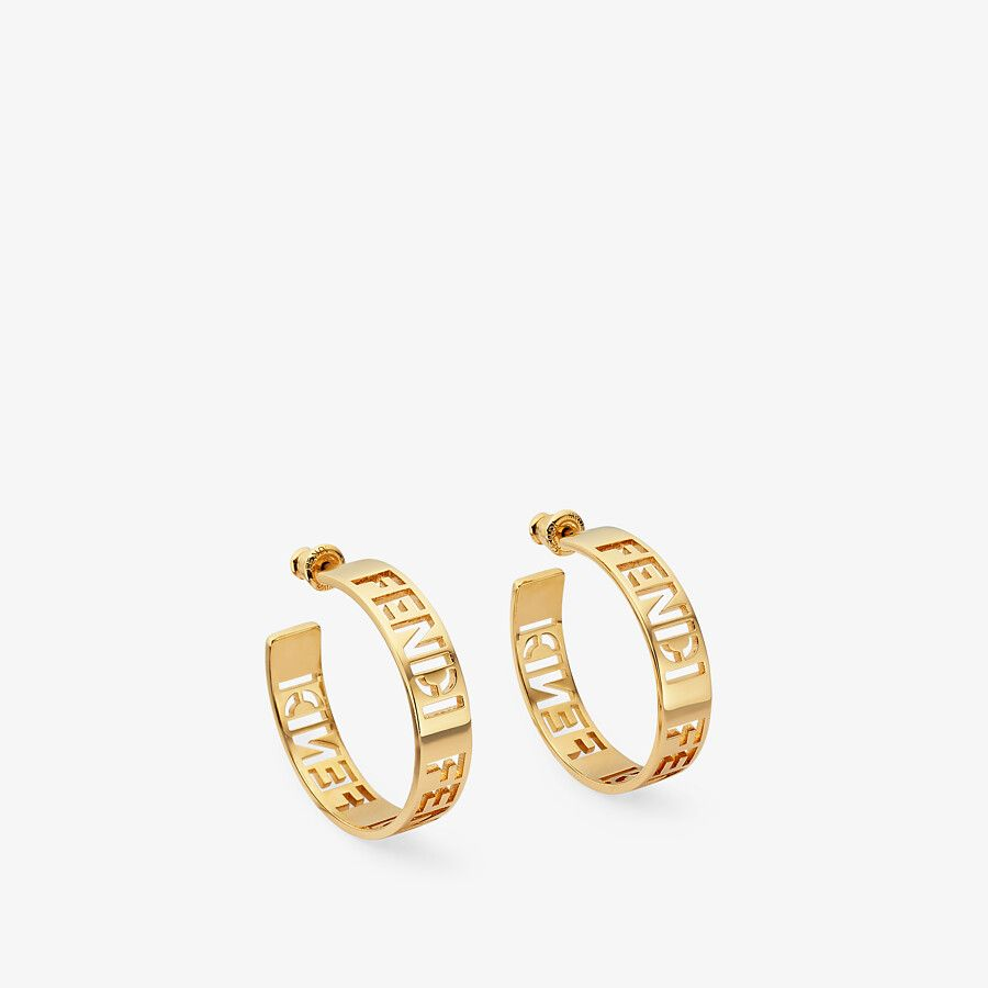 SMALL SIGNATURE EARRINGS by Fendi for $490 Olivia Culpo Jewellery Exact Product