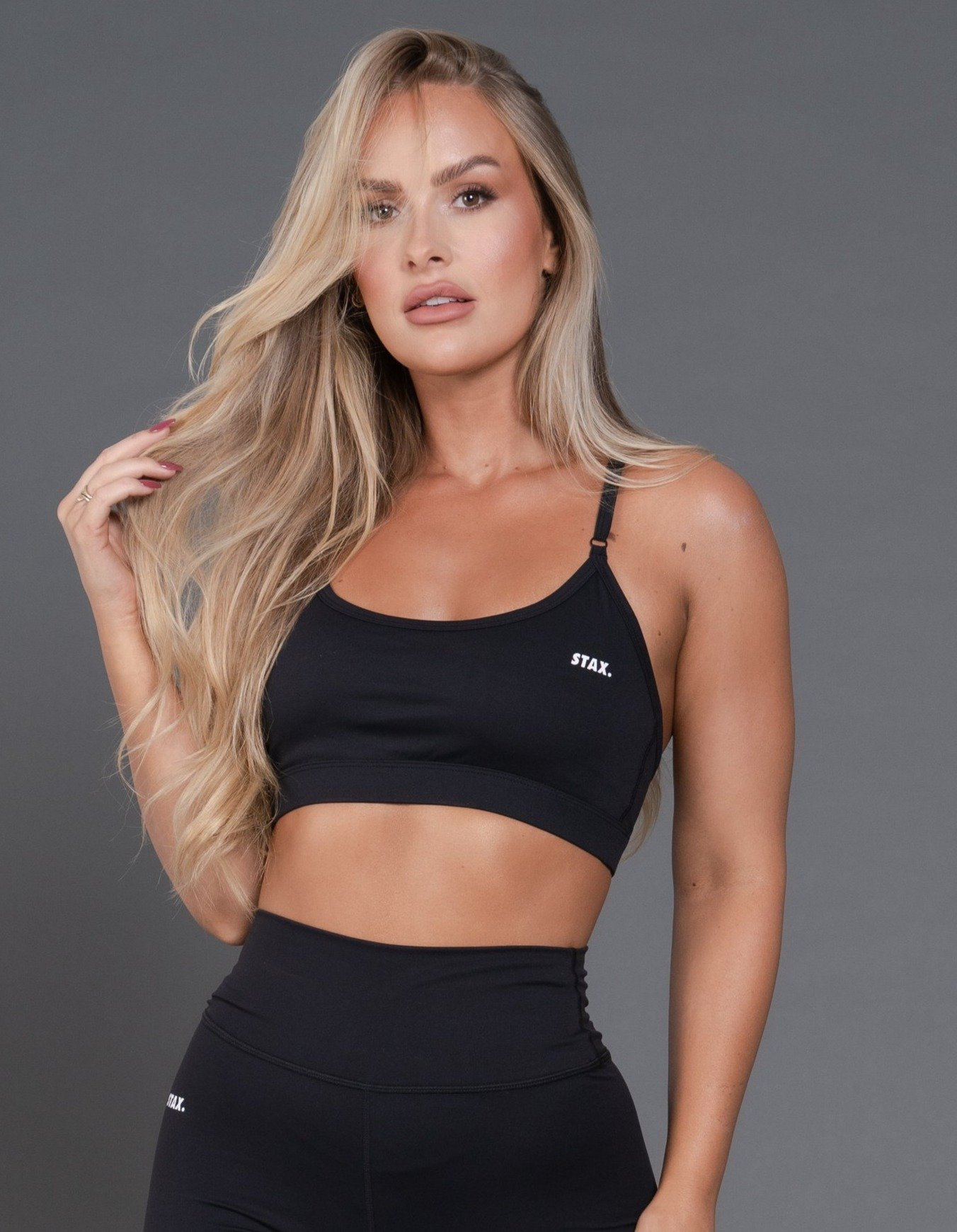 STAX. BEST BLACK STRAPPY CROP by Nike, available on stax.com.au for $44 Olivia Culpo Top Exact Product
