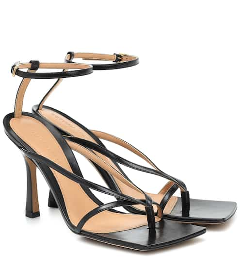 Stretch leather sandals by Bottega Veneta, available on mytheresa.com for $890 Olivia Culpo Shoes Exact Product
