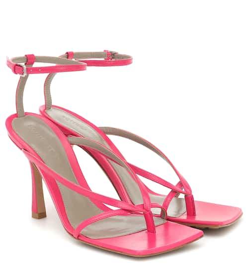Stretch leather sandals by Bottega Veneta, available on mytheresa.com for $890 Olivia Culpo Shoes SIMILAR PRODUCT