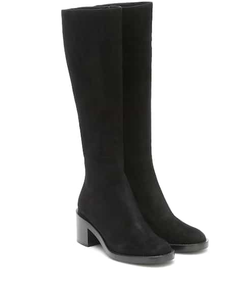 Suede knee-high boots by Gianvito Rossi, available on mytheresa.com for $1595 Olivia Culpo Shoes SIMILAR PRODUCT