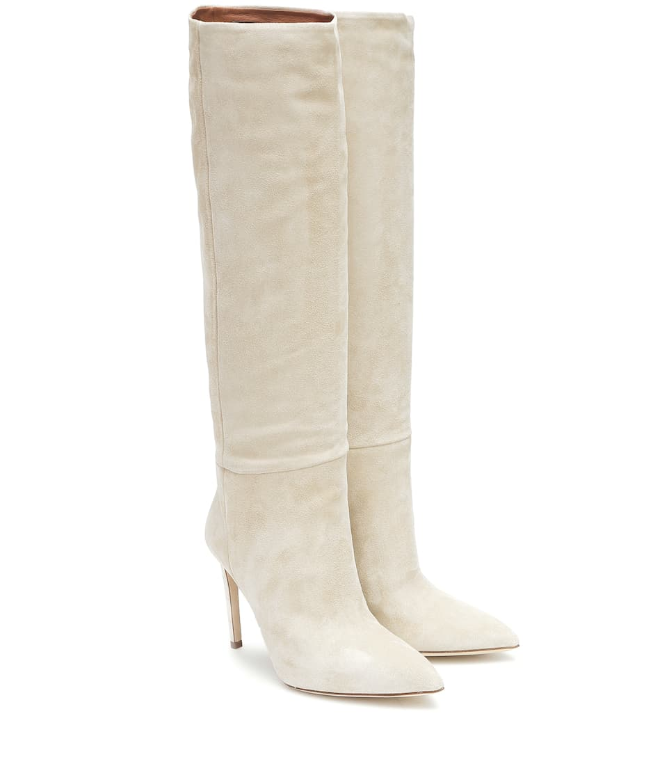 Suede knee-high boots by PARIS TEXAS, available on mytheresa.com for $815 Olivia Culpo Shoes Exact Product