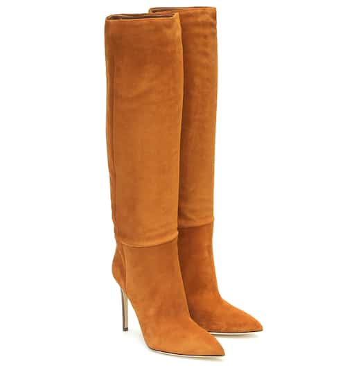 Suede knee-high boots by Paris Texas, available on mytheresa.com for $815 Olivia Culpo Shoes SIMILAR PRODUCT