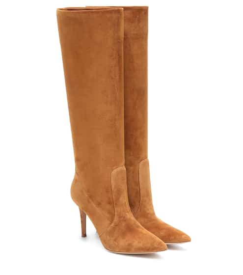 Susan 85 suede knee-high boots by Gianvito Rossi, available on mytheresa.com for $1395 Olivia Culpo Shoes SIMILAR PRODUCT
