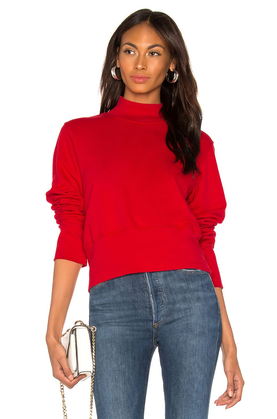 The Milan Sweatshirt by Cotton Citizen, available on revolve.com for $195 Olivia Culpo Top Exact Product
