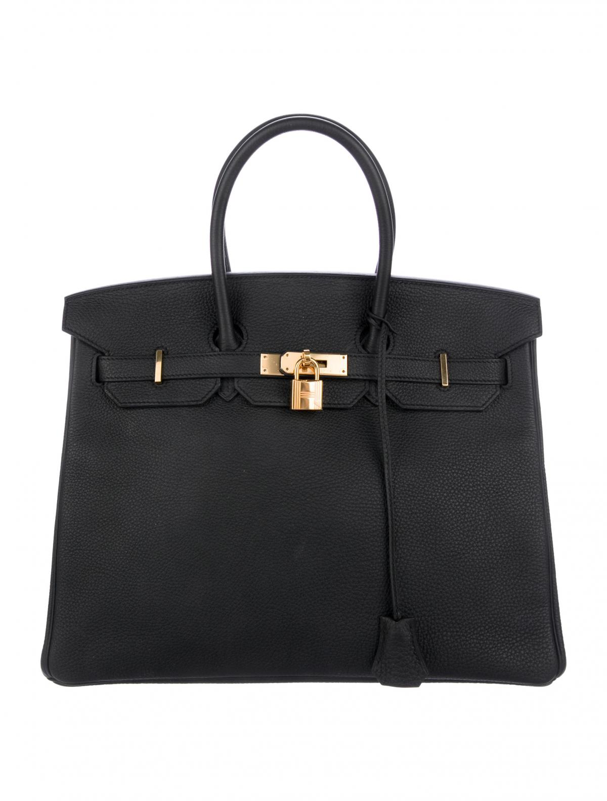 Togo Birkin 35 by Hermes, available on therealreal.com for $13500 Olivia Culpo Bags Exact Product