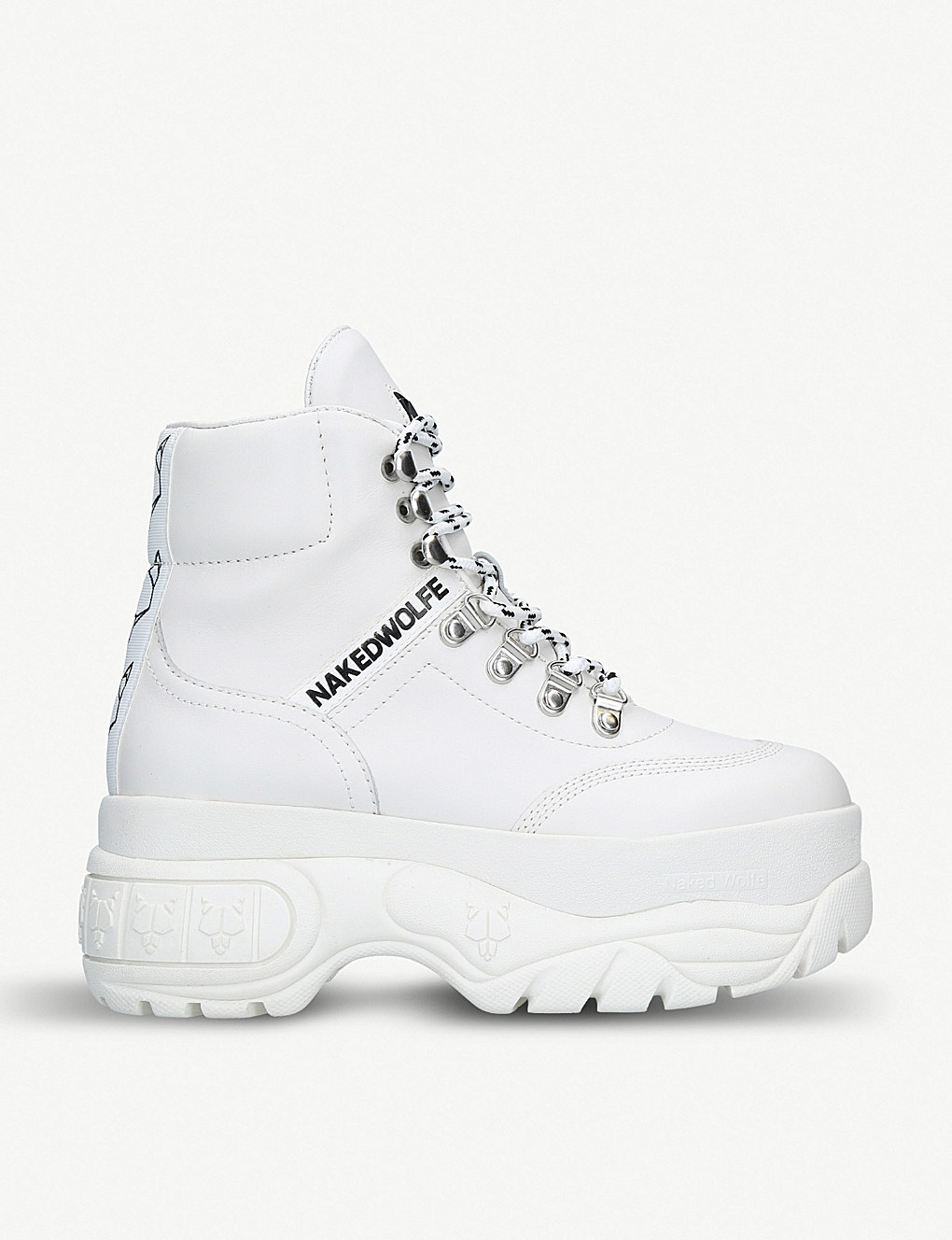 Wicked leather high-top sneakers by Naked Wolfe, available on selfridges.com for $210 Olivia Culpo Shoes Exact Product