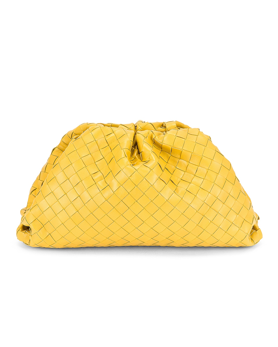 Woven The Pouch Clutch by Bottega Veneta, available on fwrd.com for $3200 Olivia Culpo Bags Exact Product