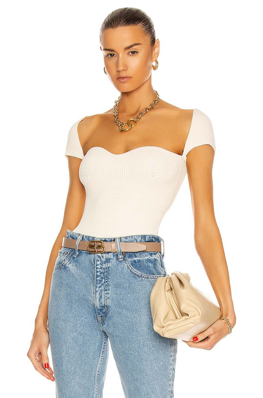 sta Cap Sleeve Top by Khaite, available on fwrd.com Olivia Culpo Top Exact Product