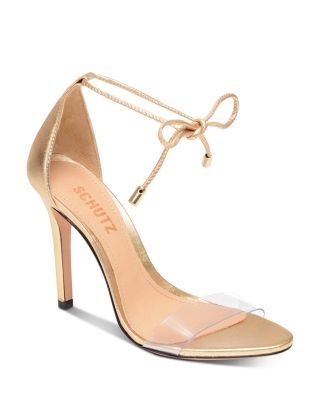 Women's Josseana Open Toe Nubuck High-Heel Sandals by SCHUTZ, available on bloomingdales.com for $118 Olivia Munn Shoes Exact Product