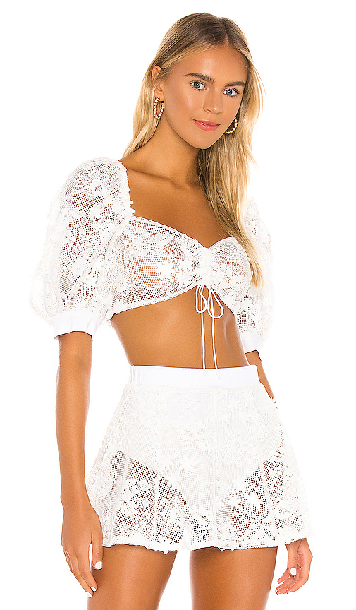 Crochet Daisy Crop Top by For Love & Lemons, available on revolve.com for $141 Priyanka Chopra Top SIMILAR PRODUCT