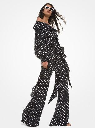 Polka Dot Silk Crepe De Chine Off-The-Shoulder Jumpsuit by Michael Kors, available on shopstyle.com for $2650 Priyanka Chopra Dress SIMILAR PRODUCT