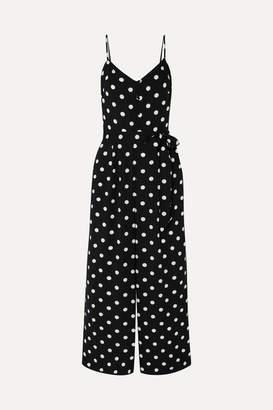 Shirred Polka-dot Jersey Jumpsuit - Black by J.Crew, available on shopstyle.com for $27 Priyanka Chopra Dress SIMILAR PRODUCT