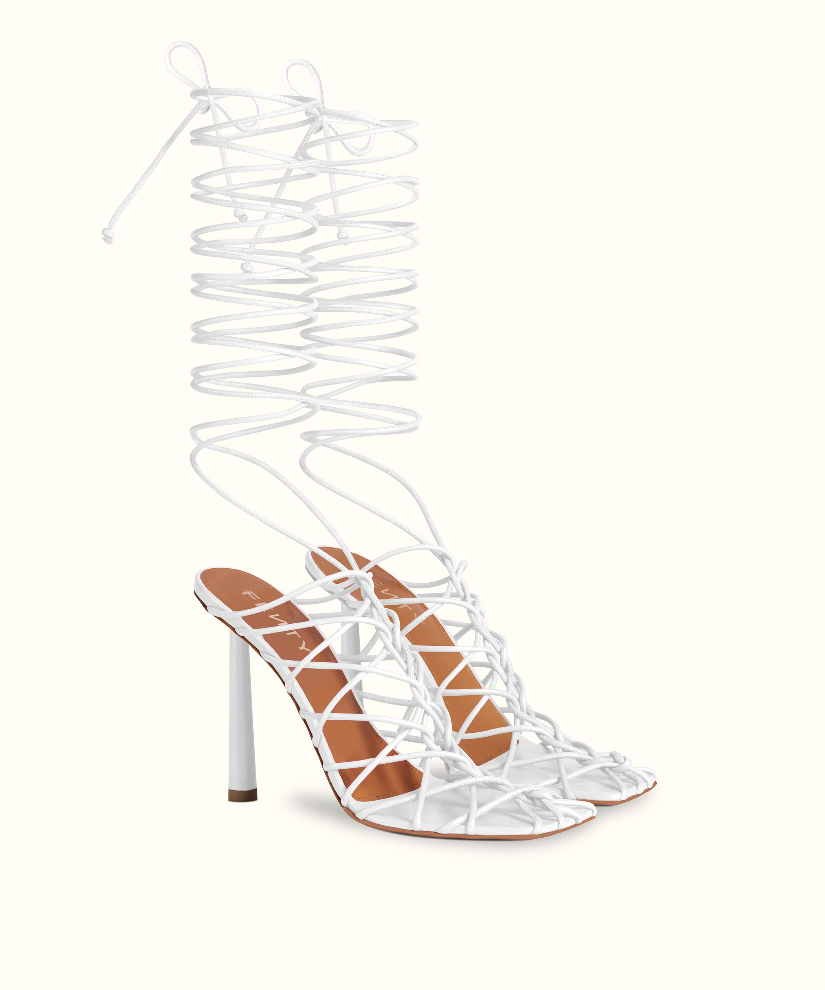 CAGED IN SANDALS 105 by Fenty, available on fenty.com for $740 Rihanna Shoes Exact Product