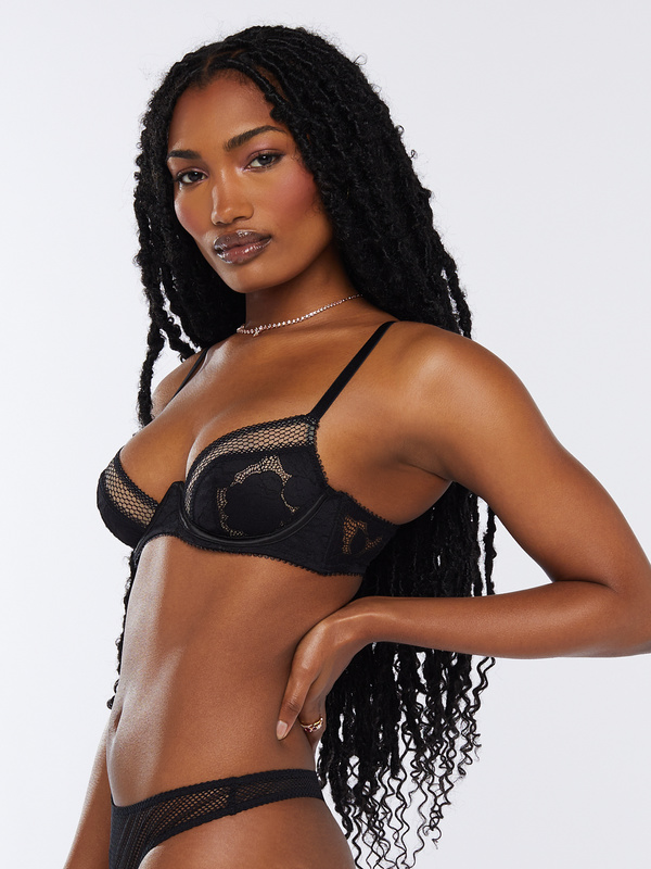 Floral Glow Unlined Lace Bra by Savage X Fenty, available on savagex.com for $59.95 Rihanna Top Exact Product