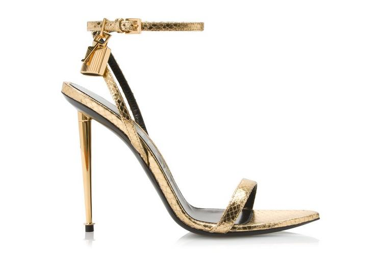 Padlock Python Naked Sandals by Tom Ford, available on tomford.com for $1390 Rihanna Shoes Exact Product