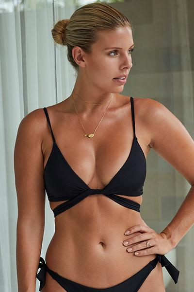 St Barths Top - Black by Monday Swimwear, available on mondayswimwear.com for $87 Rita Ora Top SIMILAR PRODUCT
