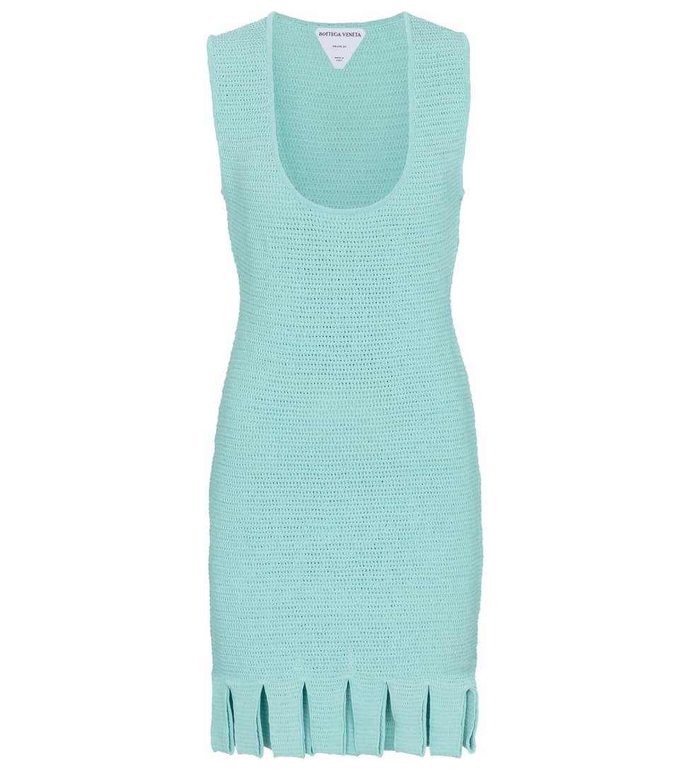 Cotton-blend mesh knit minidress by Bottega Veneta, available on mytheresa.com for $1900 Rosie Huntington Whiteley Dress Exact Product