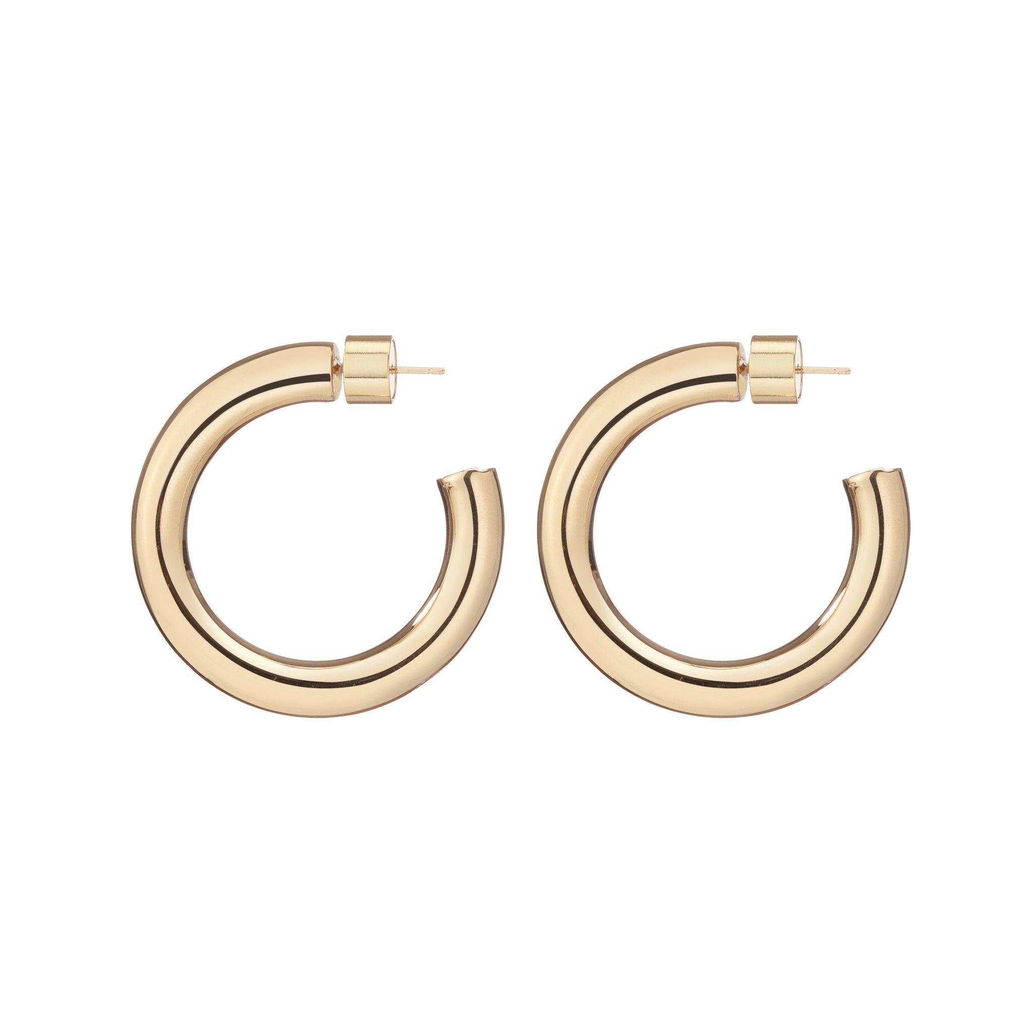 Mini Gold Samira Hoop Earrings by Jennifer Fisher, available on jenniferfisherjewelry.com for $295 Selena Gomez Jewellery Exact Product