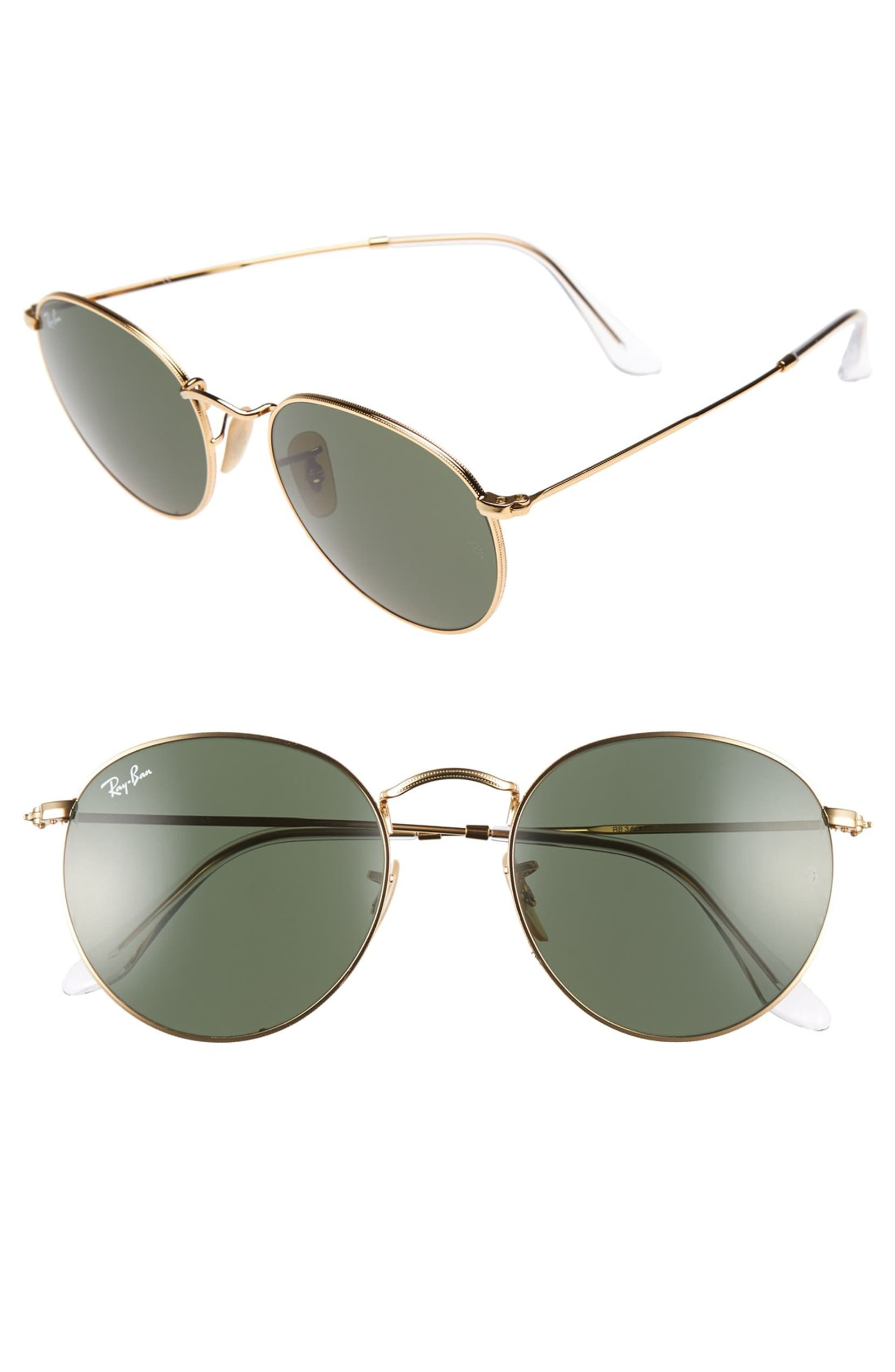 Rb3447 Round Metal G-15 Sunglasses by Ray-Ban, available on nordstrom.com for $153 Selena Gomez Sunglasses Exact Product