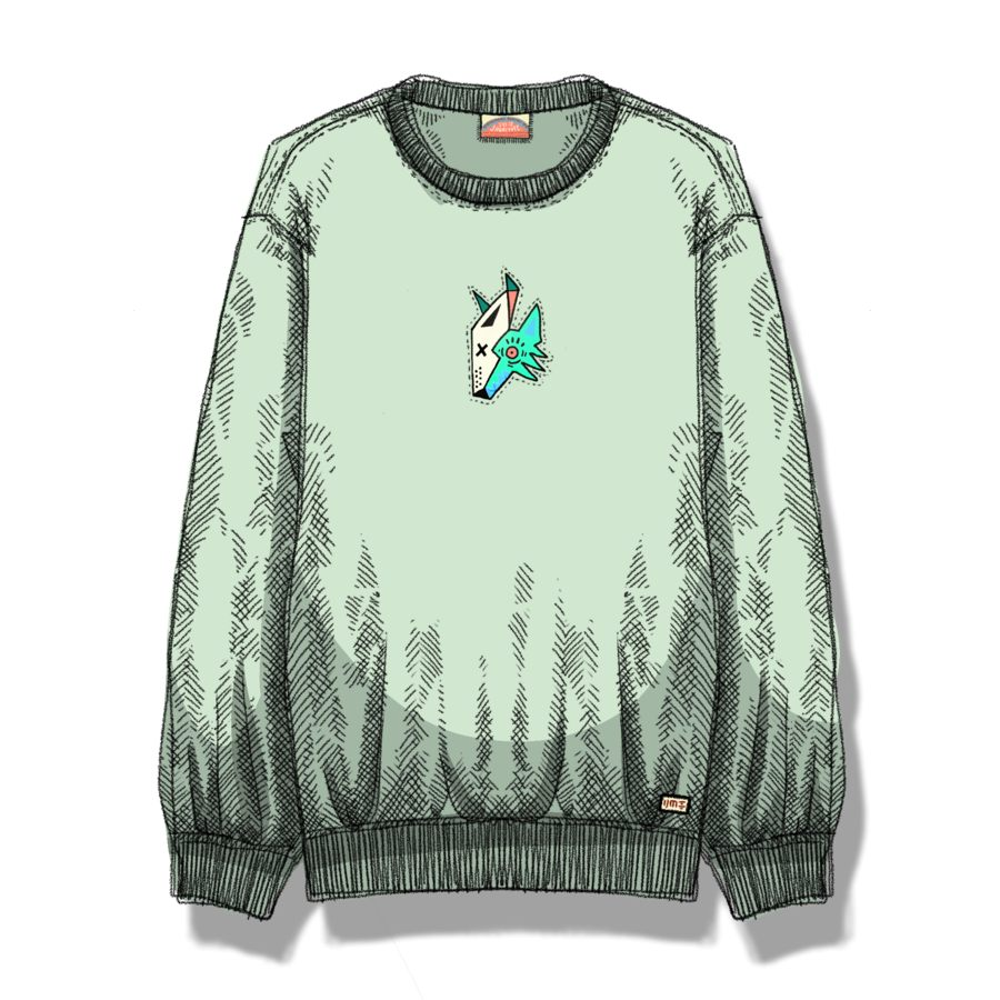Shuaiyote Phoenix Coyotes Mint Crewneck by Shuaiyote Phoenix Coyotes, available on originalshuaige.com for $60 Selena Gomez Top Exact Product
