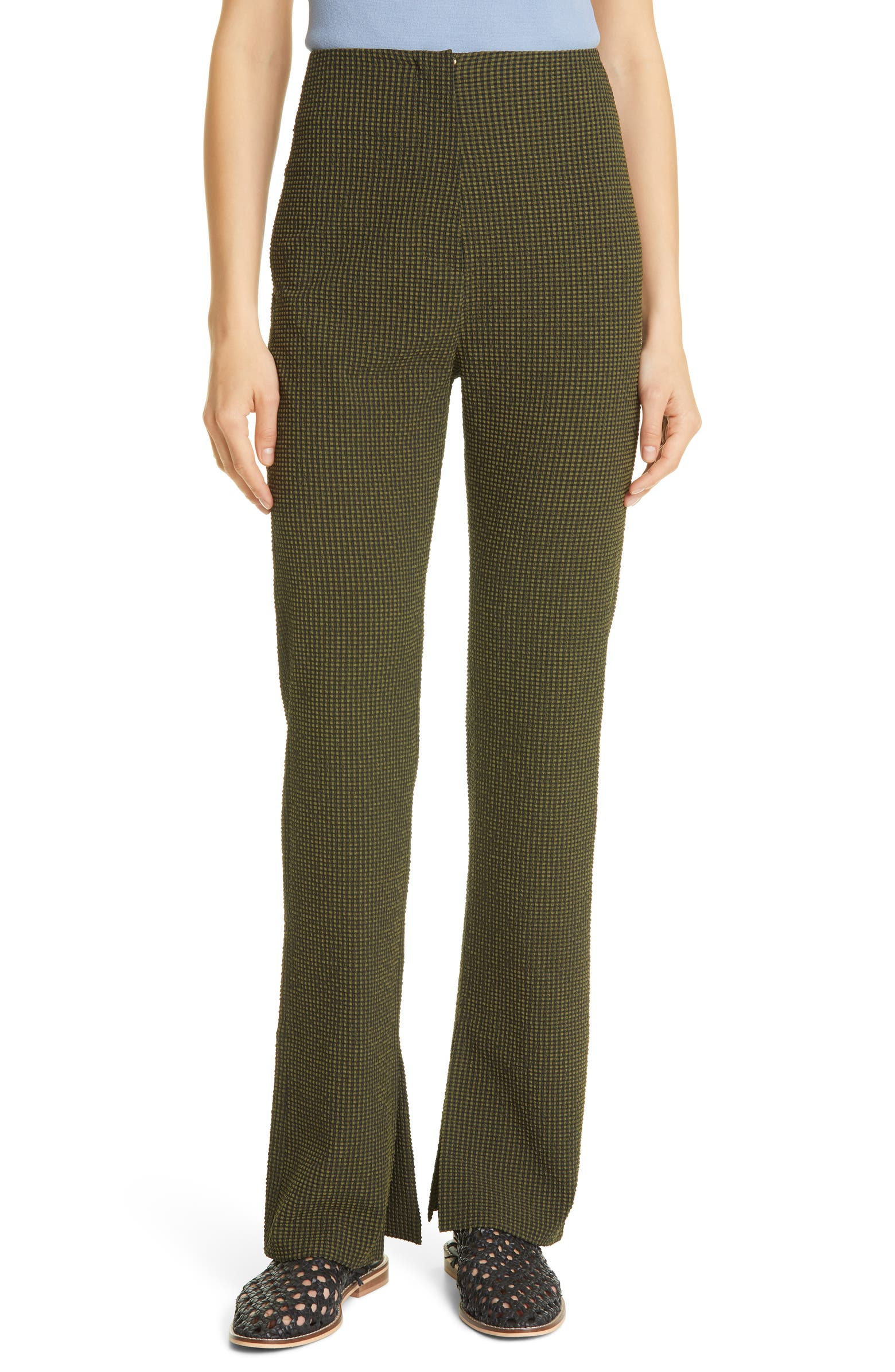 Tabbie Check Trousers by NANUSHKA, available on nordstrom.ca Selena Gomez Pants Exact Product