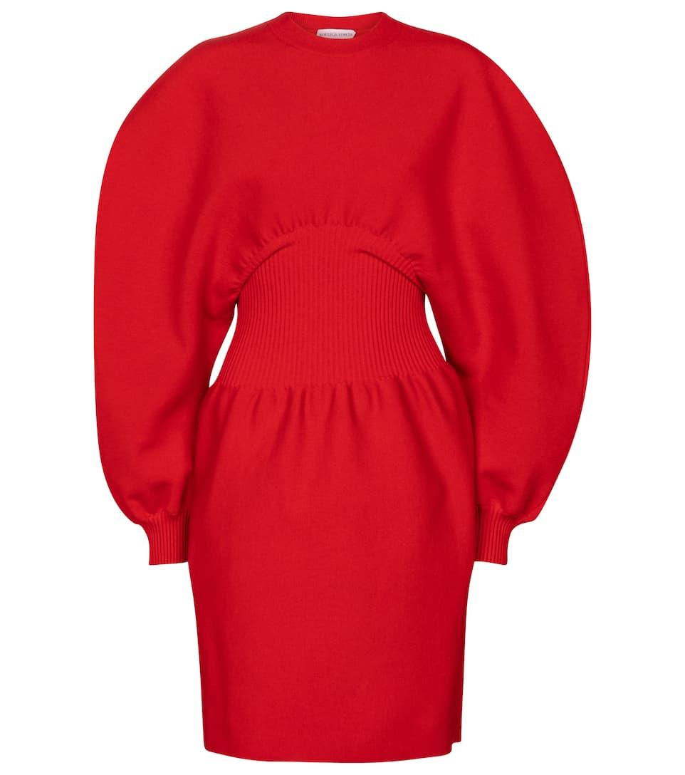 Wool-blend minidress by Bottega Veneta, available on mytheresa.com for EUR1710 Selena Gomez Dress Exact Product