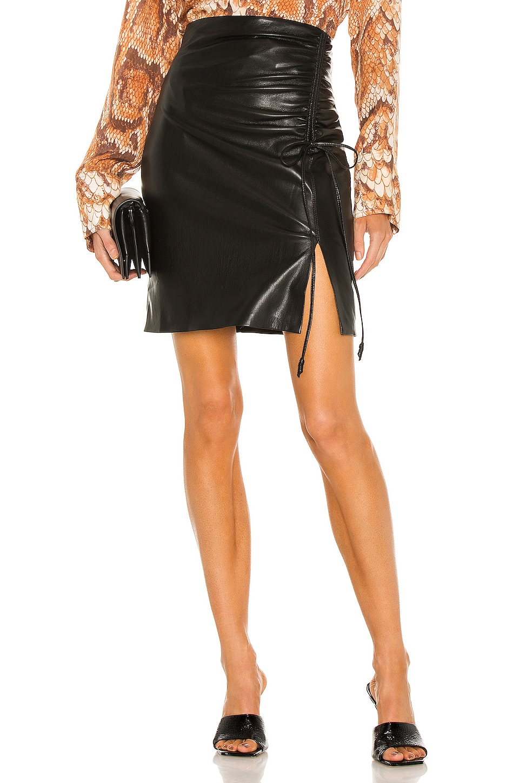 Zow Vegan Leather Skirt by Nanushka, available on revolve.com Selena Gomez Skirt Exact Product