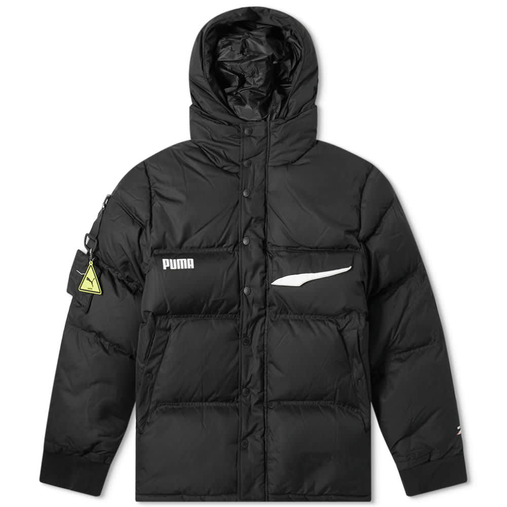 x Ader Error Down Puffer Jacket by Puma, available on endclothing.com for $385 Selena Gomez Outerwear Exact Product