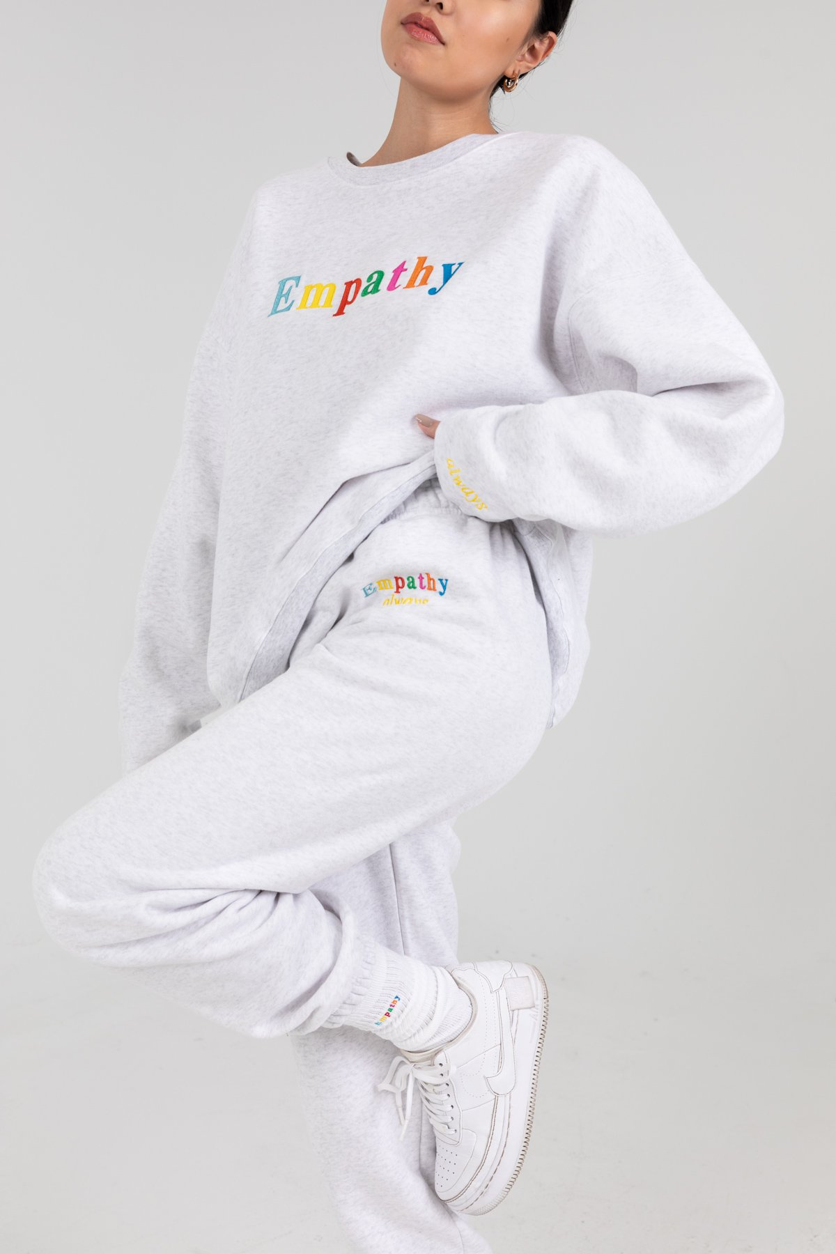 EMPATHY ALWAYS SWEATPANTS by The Mayfair Group, available on themayfairgroupllc.com for $68 Taylor Hill Pants Exact Product