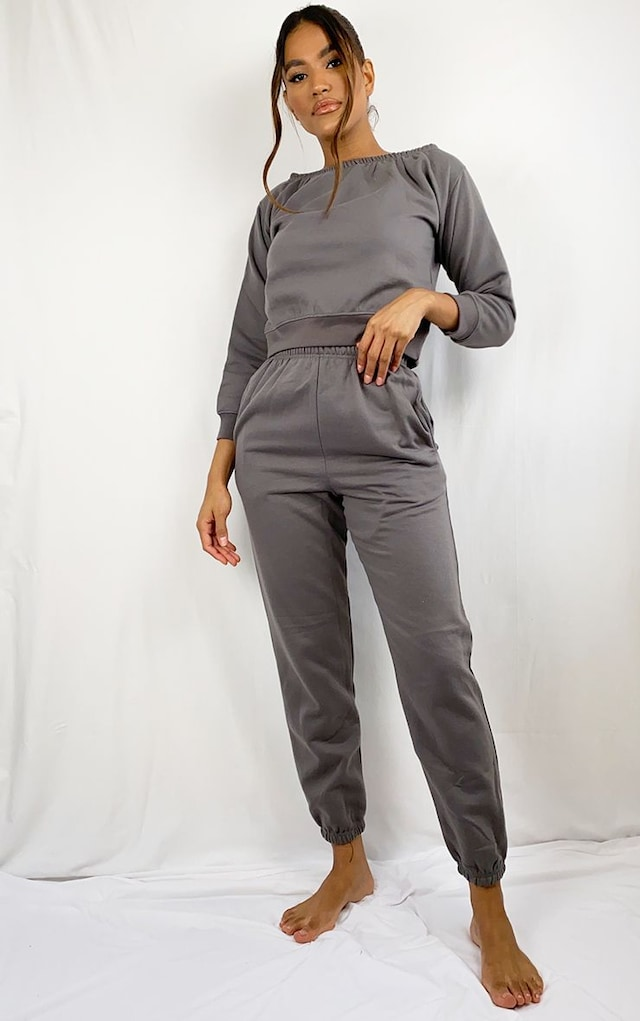 Charcoal Sweat Pant Joggers by Pretty Little Thing, available on prettylittlething.com for $20 Winnie Harlow Pants SIMILAR PRODUCT