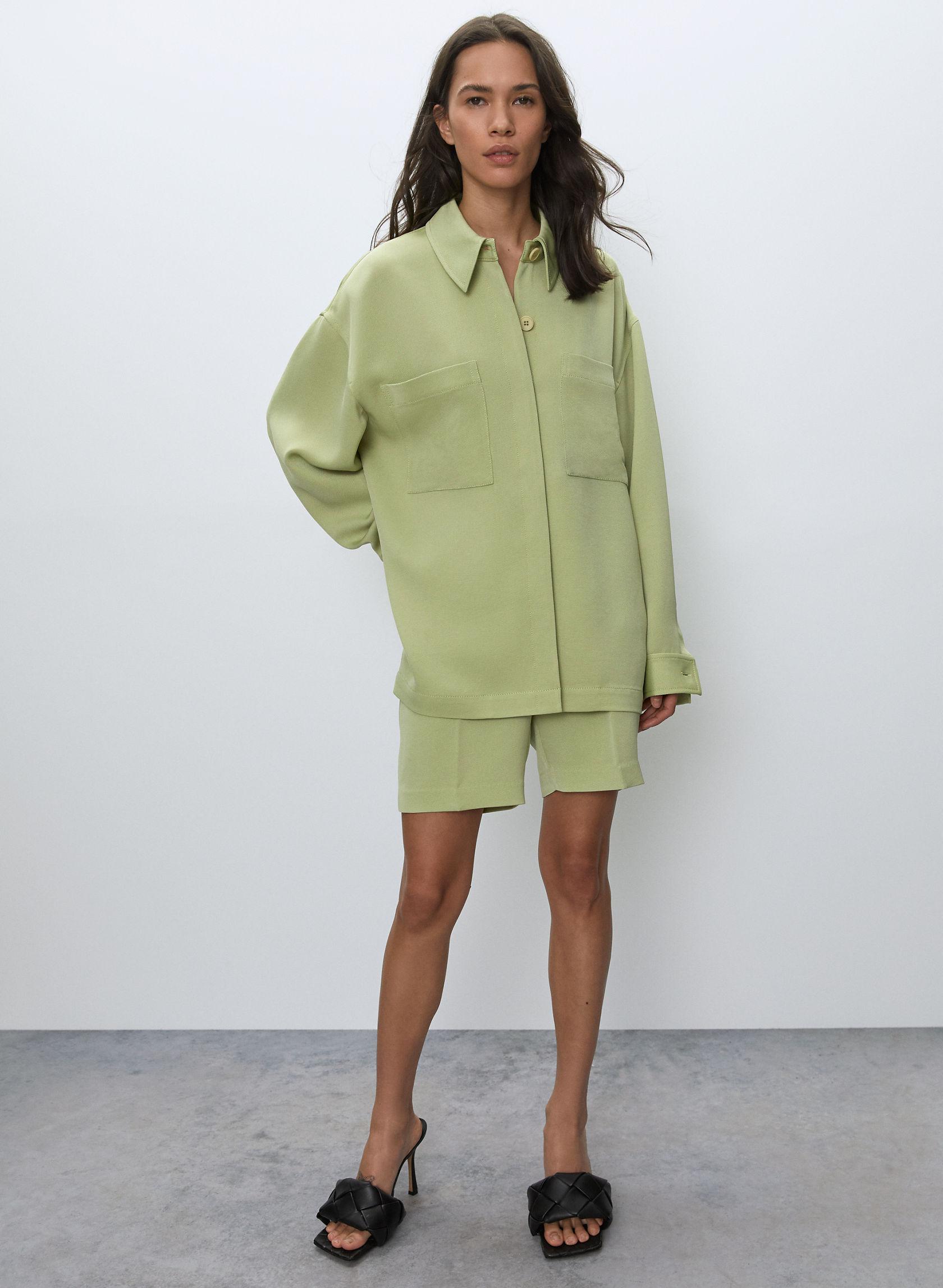Borna Jacket by Aritzia, available on 78412.html for $198 Yovanna Ventura Top Exact Product