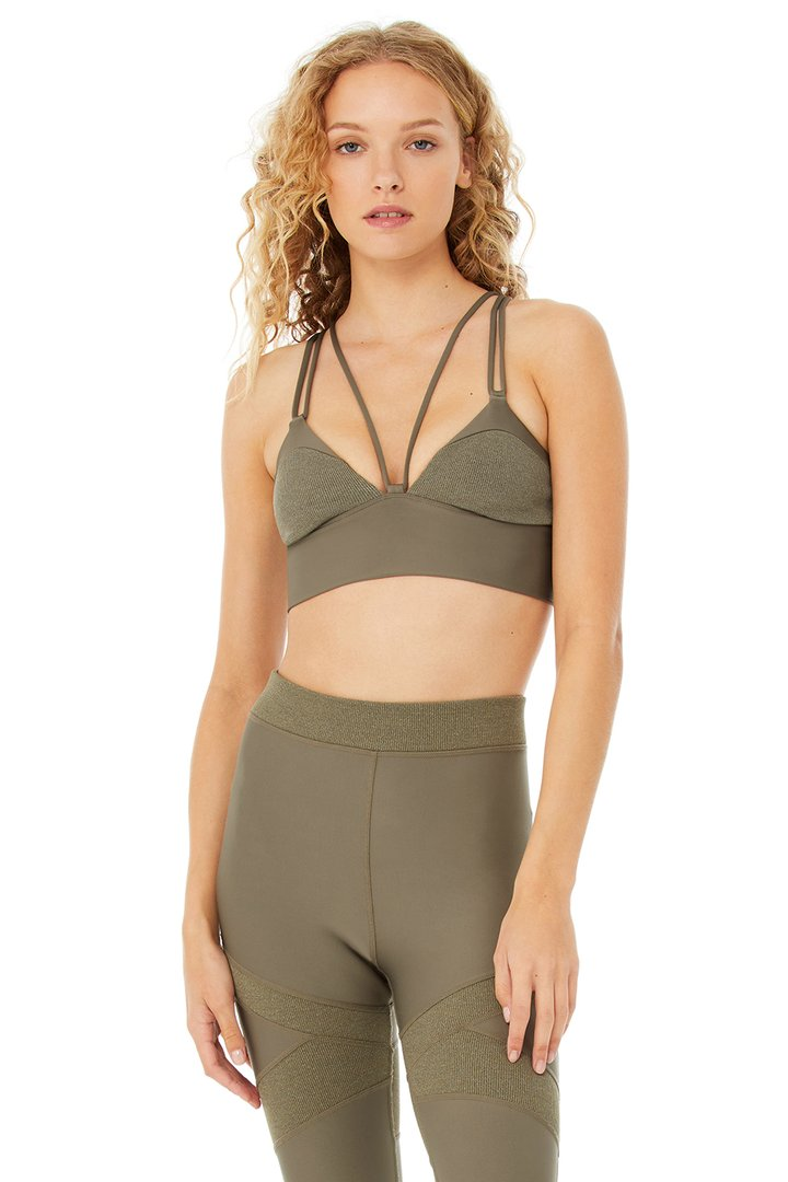 Level Up Bra - Olive Branch by Alo Yoga, available on aloyoga.com for $62 Yovanna Ventura Top SIMILAR PRODUCT