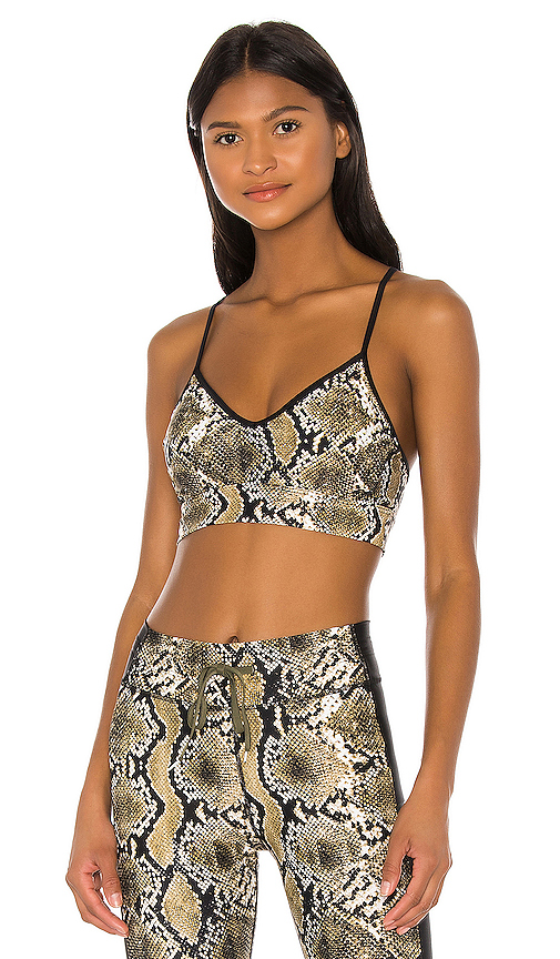 Snake Skin Andie Bra by THE UPSIDE, available on revolve.com for $79 Yovanna Ventura Top SIMILAR PRODUCT