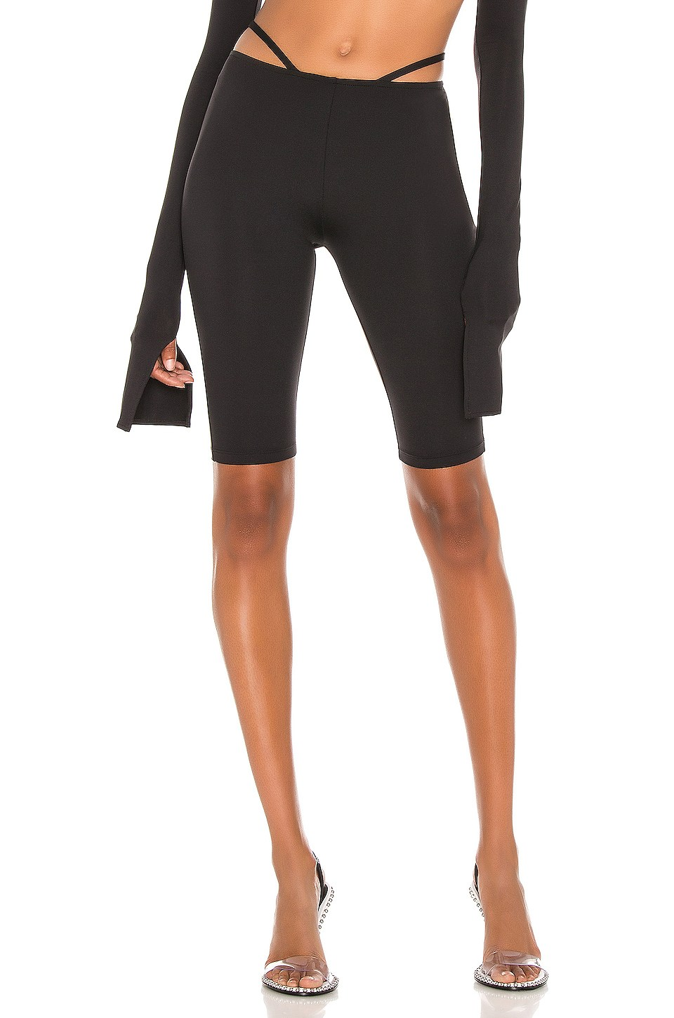 X REVOLVE Low Rise Biker Short by Laquan-Smith, available on revolve.com for $295 Yovanna Ventura Shorts Exact Product