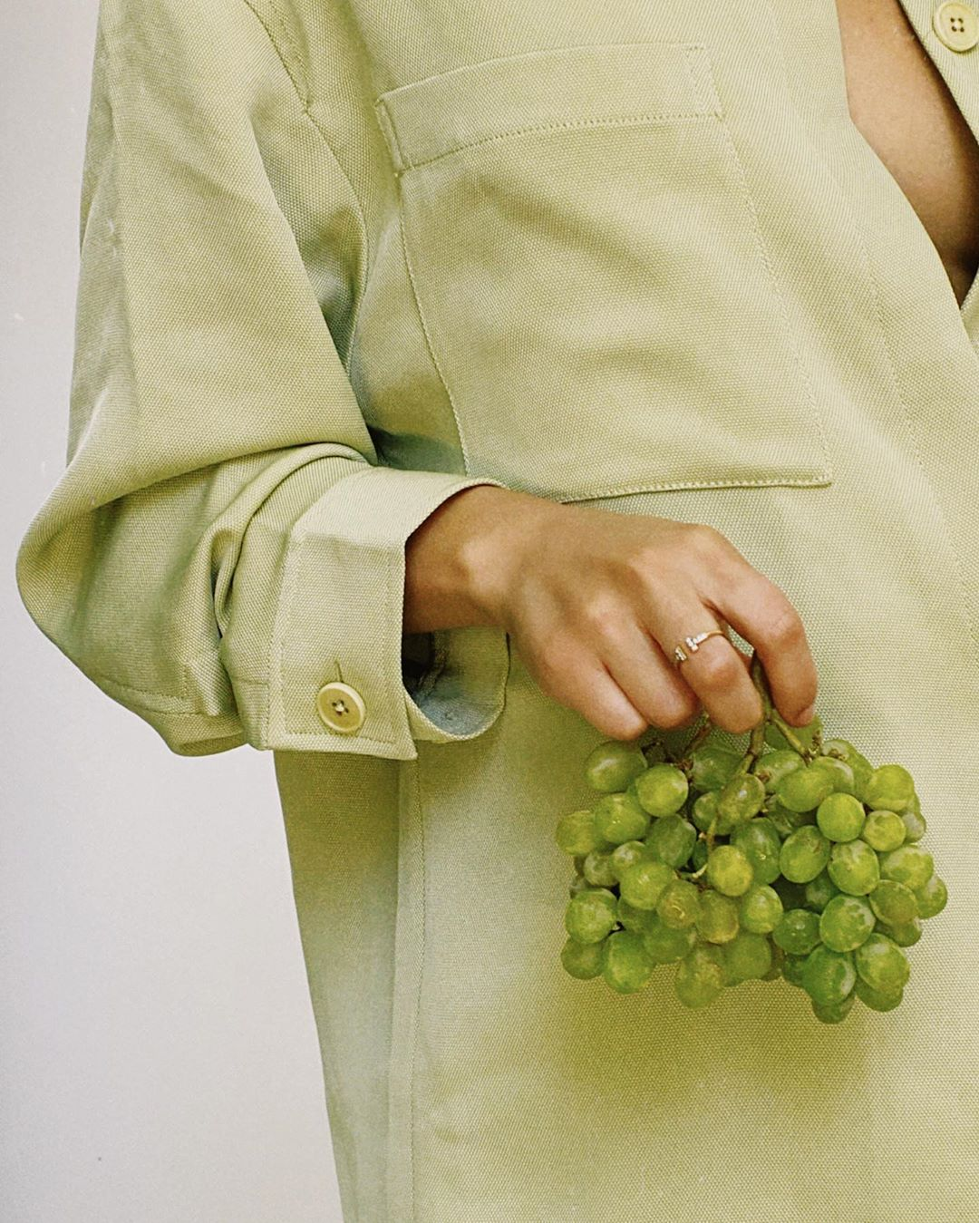 Yovanna Ventura wearing skinny pistachio Green high waist knee length shorts